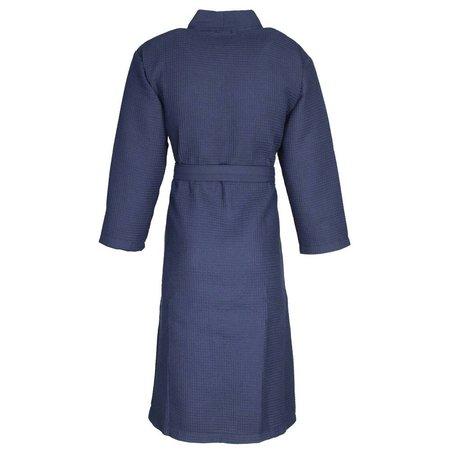 Badrock badjas unisex marineblauw katoen kimono