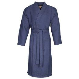 Badrock badjas badjas unisex marineblauw kimono