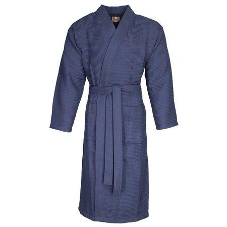 badjas unisex marineblauw katoen kimono