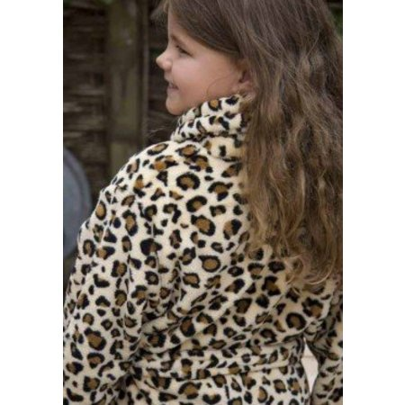 Badrock badjas kind Little Wild Thing fleece met sjaalkraag