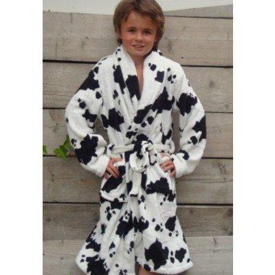 Badrock badjas kind Little Cow met sjaalkraag