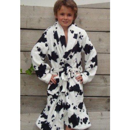 Badrock badjas kind Little Cow fleece met sjaalkraag