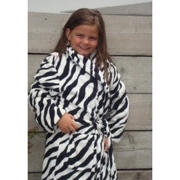 Badrock badjas badjas kind Little Zebra met sjaalkraag