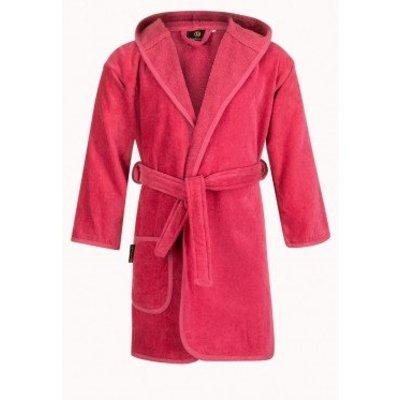 Badrock badjas badjas kind fuchsia roze met capuchon