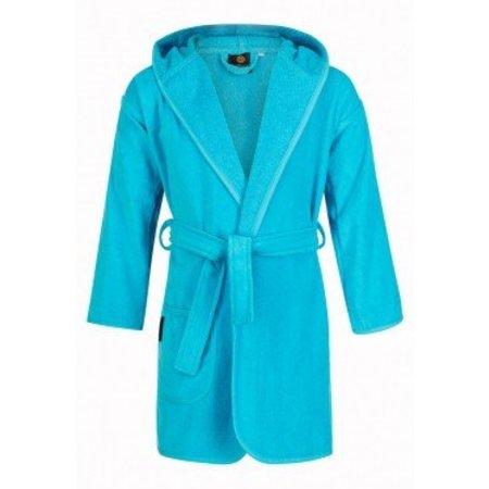 Badrock badjas kind aquablauw katoen met capuchon
