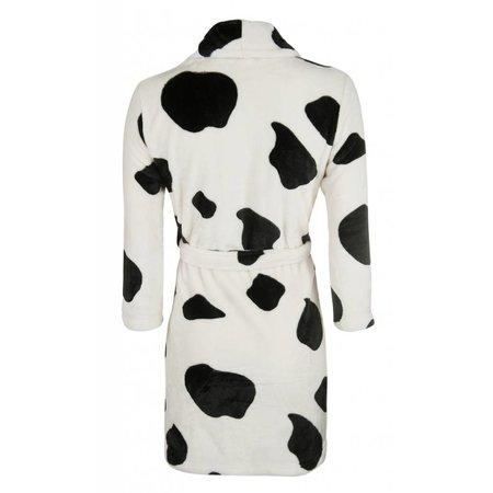 Badrock badjas badjas kind Little Cow fleece met sjaalkraag