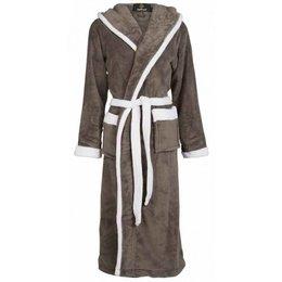 Badrock badjas badjas unisex grijs-wit met capuchon
