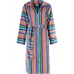 Cawö badjas dames streep met rits