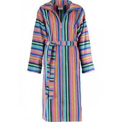 Cawö badjas badjas dames streep met rits