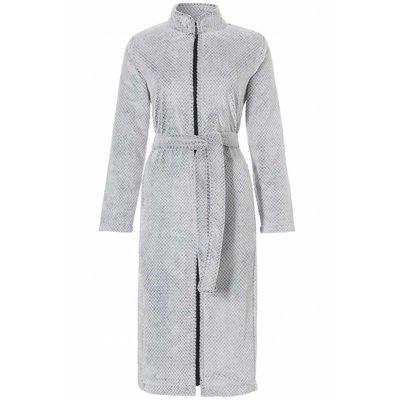 Pastunette badjas dames zigzag grijs met rits