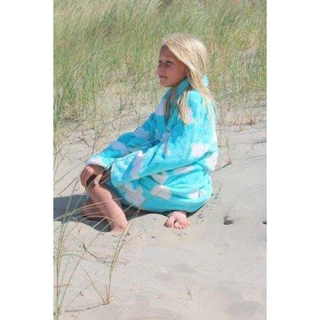 badjas kind Wolken fleece met sjaalkraag