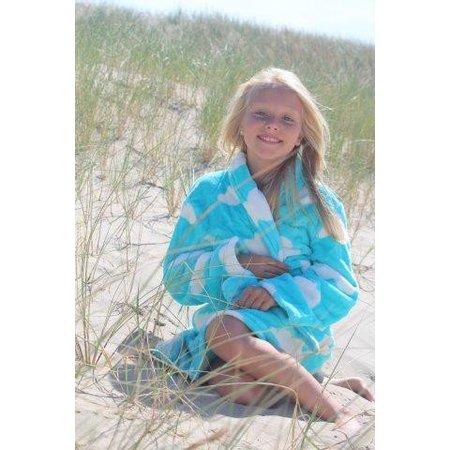 Badrock badjas badjas kind Wolken fleece met sjaalkraag