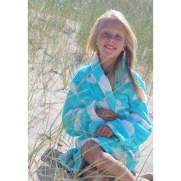 Badrock badjas badjas kind Wolken met sjaalkraag