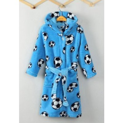 Playshoes badjas badjas kind Voetbal blauw met capuchon
