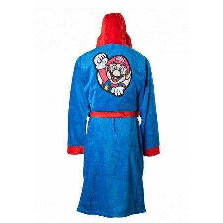Badjas heren Super Mario fleece met capuchon