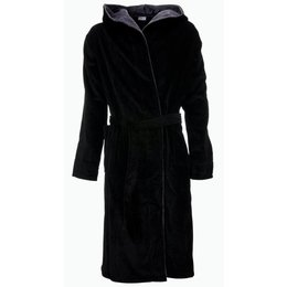 Badrock badjas badjas heren zwart met capuchon