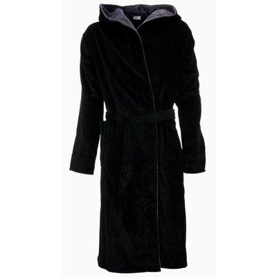 Badrock badjas heren zwart met capuchon