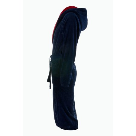 Badrock badjas badjas heren marineblauw-rood katoen met capuchon