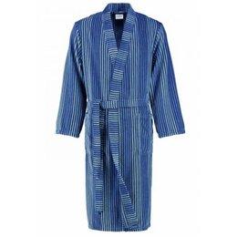 Cawö badjas heren blauw gestreept kimono