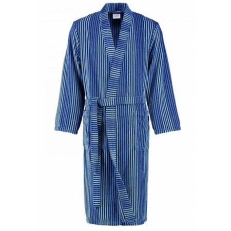 Cawö badjas heren blauw gestreept katoen kimono