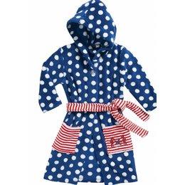 Playshoes badjas badjas kind Stippen blauw met capuchon