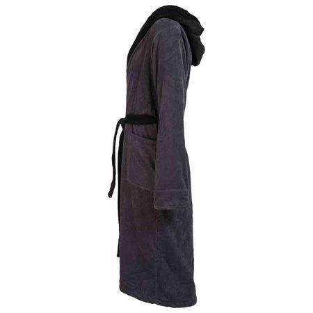 Badrock badjas heren antraciet katoen met capuchon (maat M/L)