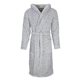 Badrock badjas unisex grijs gemêleerd met capuchon