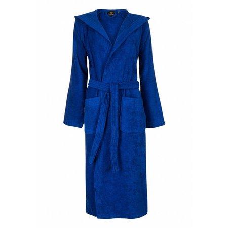 Badrock badjas badjas unisex kobaltblauw fleece met capuchon - fleece