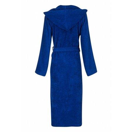 Badrock badjas unisex kobaltblauw fleece met capuchon