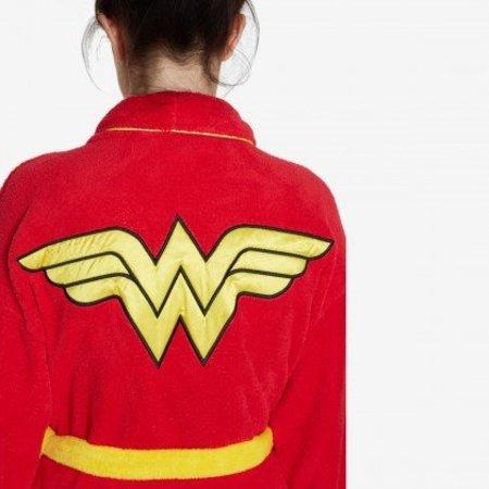 DC Comics badjas dames Wonder Woman fleece met sjaalkraag (one size)
