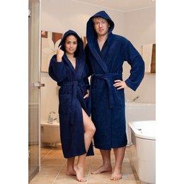 badjas unisex marineblauw met capuchon