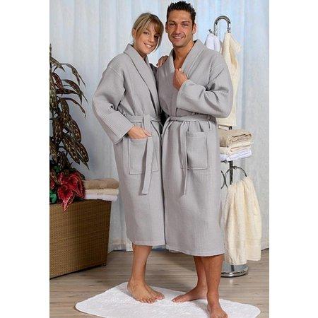 badjas unisex grijs katoen kimono - grote maten badjas