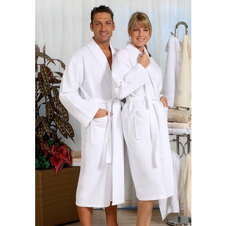 badjas unisex wit katoen kimono - grote maten badjas