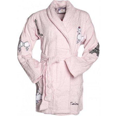 badjas dames Fifi in Paris katoen met sjaalkraag  (one size)