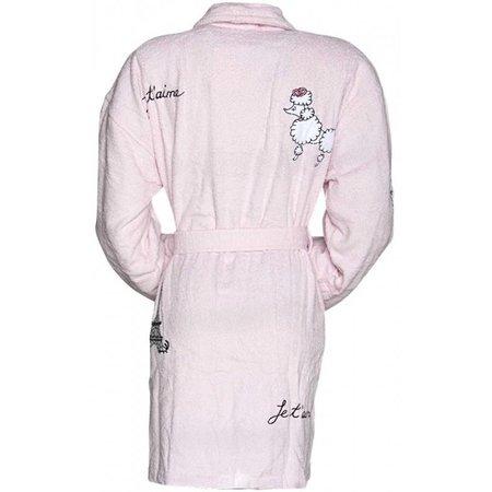 Aegean Apparel badjas dames Fifi in Paris katoen met sjaalkraag  (one size)