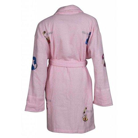 badjas dames Girl Talk katoen met sjaalkraag