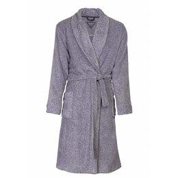 Paul Hopkins badjas heren grijs-blauw met sjaalkraag
