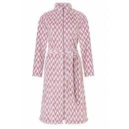 Pastunette badjas dames zigzag roze met rits