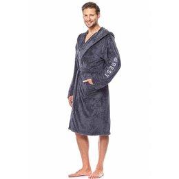 badjas heren #Best antraciet met sjaalkraag