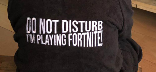 Fortnite badjas borduring