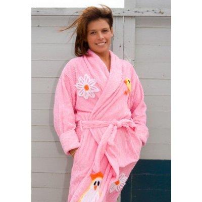 badjas dames Chicks Rule met sjaalkraag