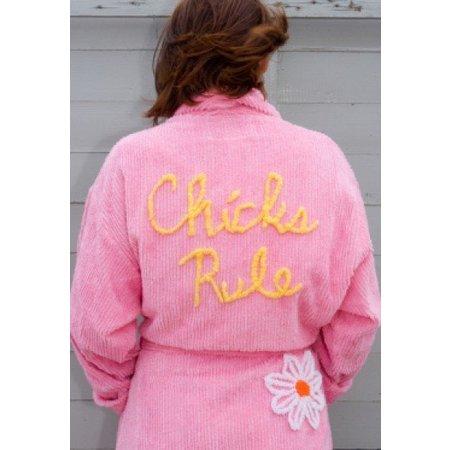badjas dames Chicks Rule katoen met sjaalkraag (one size)