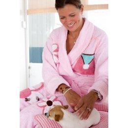 badjas dames Doggy Bag met sjaalkraag