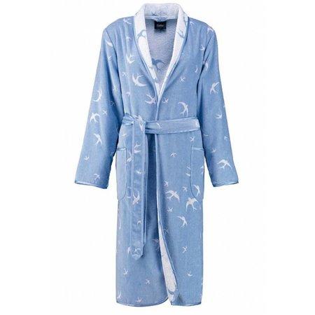Cawö badjas dames zwaluw katoen met sjaalkraag