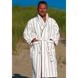 Badrock badjas heren Krijtstreep sjaalkraag