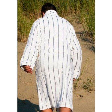 Badrock badjas heren Krijtstreep katoen met sjaalkraag