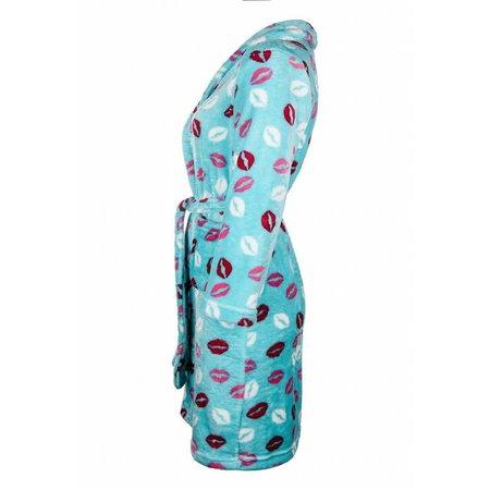 Badrock badjas badjas kind Kusjes fleece met sjaalkraag