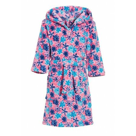 Playshoes badjas kind Bloemen fleece met capuchon