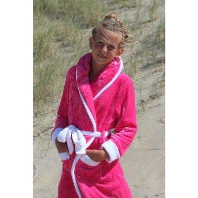 Badrock badjas badjas kind Little Pink met capuchon