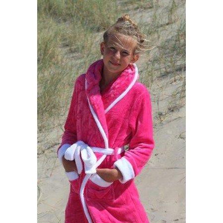 badjas kind Little Pink fleece met capuchon